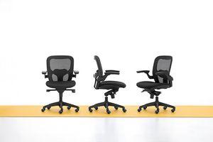 Iko 01, Silla de oficina moderna, ruedas giratorias, elevación de gas