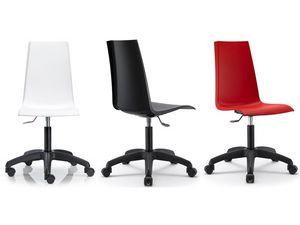 Mannequin with wheels, Giratoria y silla ajustable para la oficina, carcasa de polipropileno