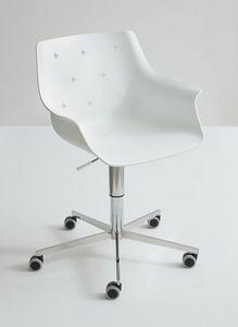 More 5R, Diseño silla ajustable, con ruedas, cubierta de polímero