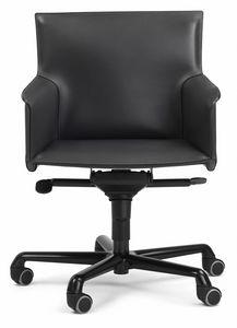 Pasqualina sillón giratorio 10.0092, Silla de oficina con ruedas, con ajustes.