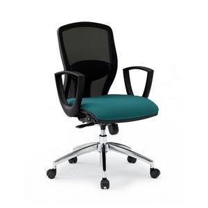 Sprint RE 179282R, Silla de oficina con asiento acolchado y respaldo de malla