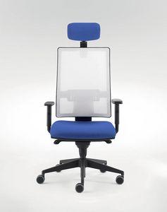 UF 491 / A, Silla de oficina moderna con sistema de deslizamiento del asiento
