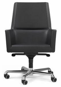 Web sillón president 10.0113, Silla ejecutiva de cuero para oficina