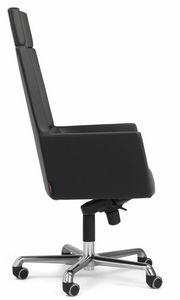 Web sillón president con reposacabezas 10.0114, Sillón de oficina con respaldo alto.