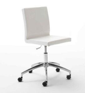 Zip, Silla operativa para la oficina, base de aluminio con ruedas