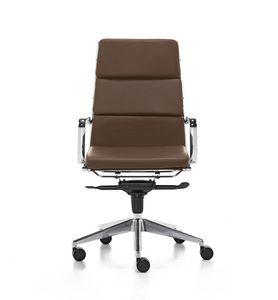 Aalborg Soft 01, Silla ejecutiva con respaldo alto para la oficina