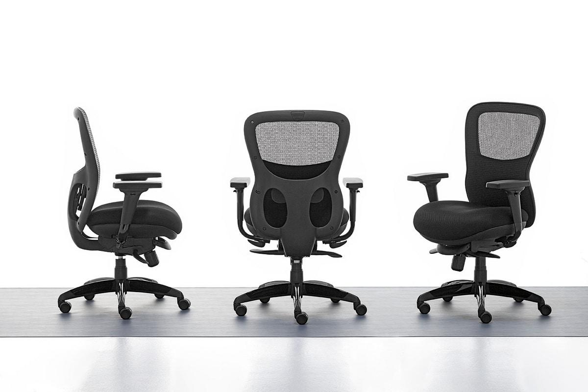 Athos 01, Silla de oficina de dirección, asiento de madera contrachapada de interior