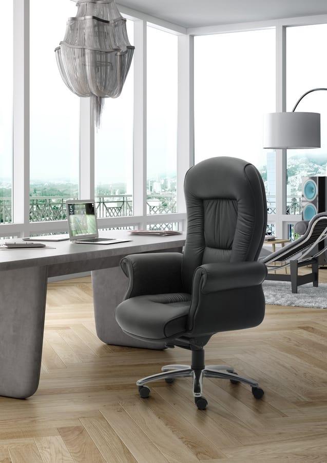 Doge Lux high executive, Sillón de oficina ejecutiva, tapizados en cuero
