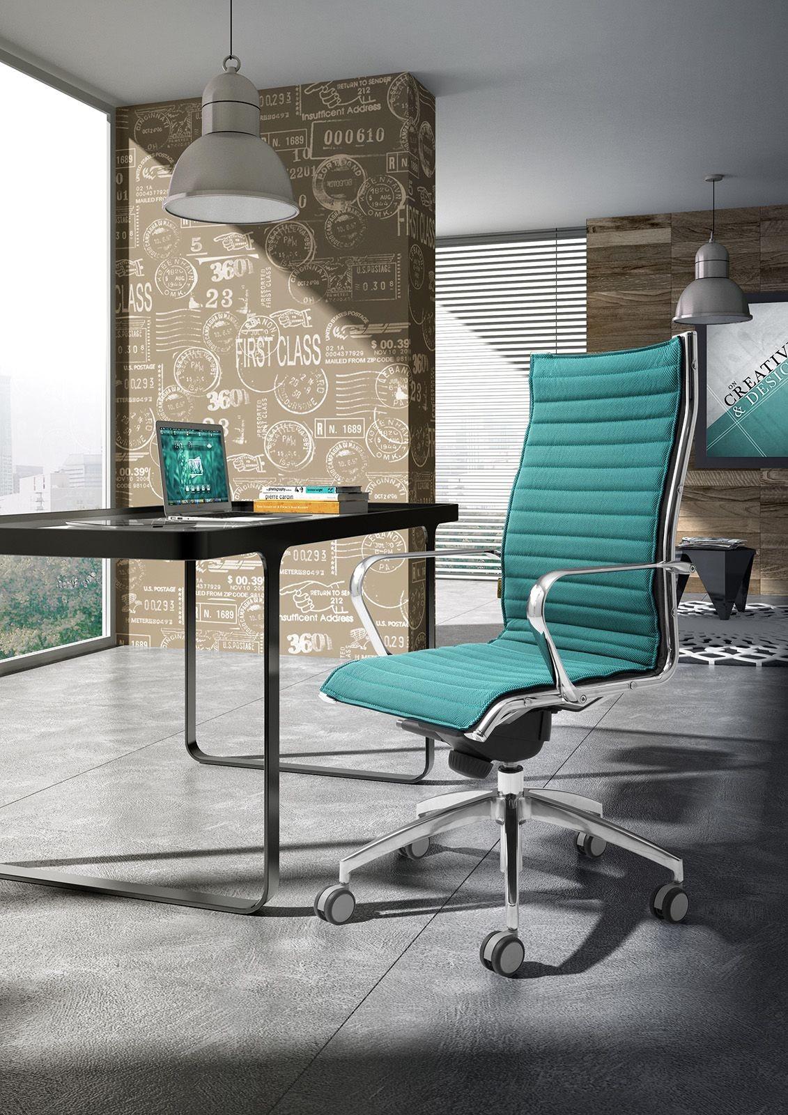 Origami IN high executive 70110M, Silla de la oficina presidencial, aluminio cromado