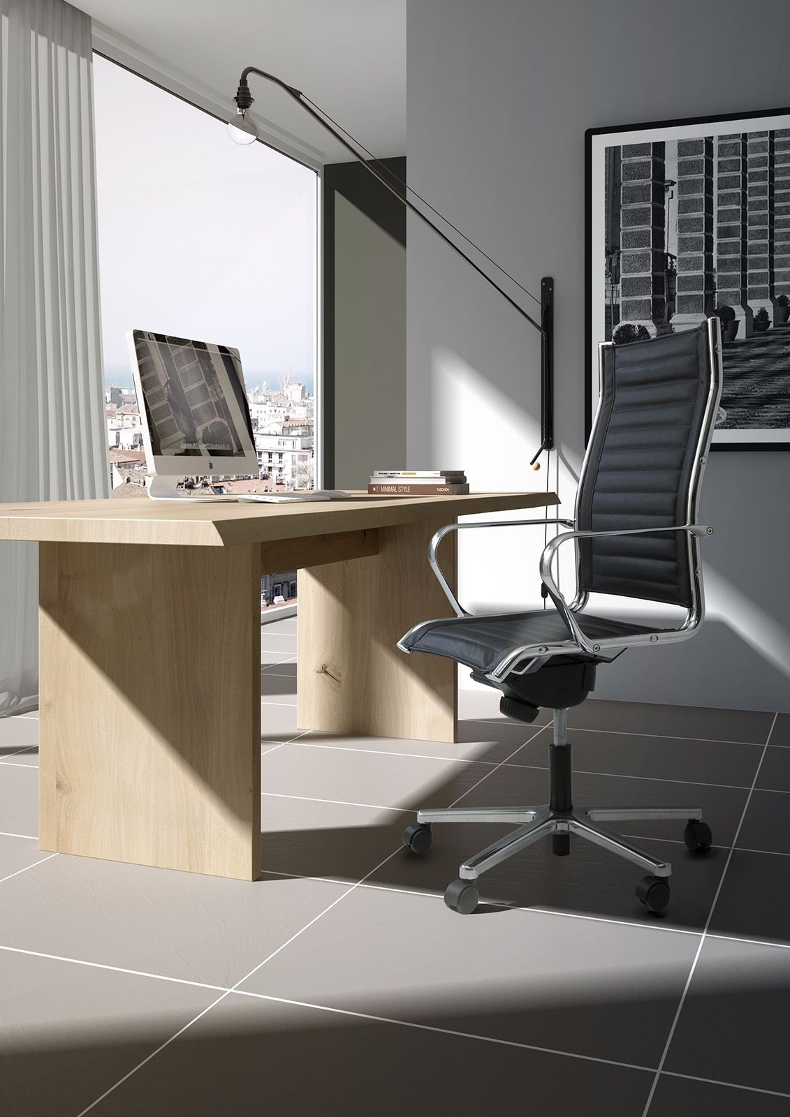 Origami TD high executive 70010, Silla giratoria con ruedas, regulable en altura, para oficinas