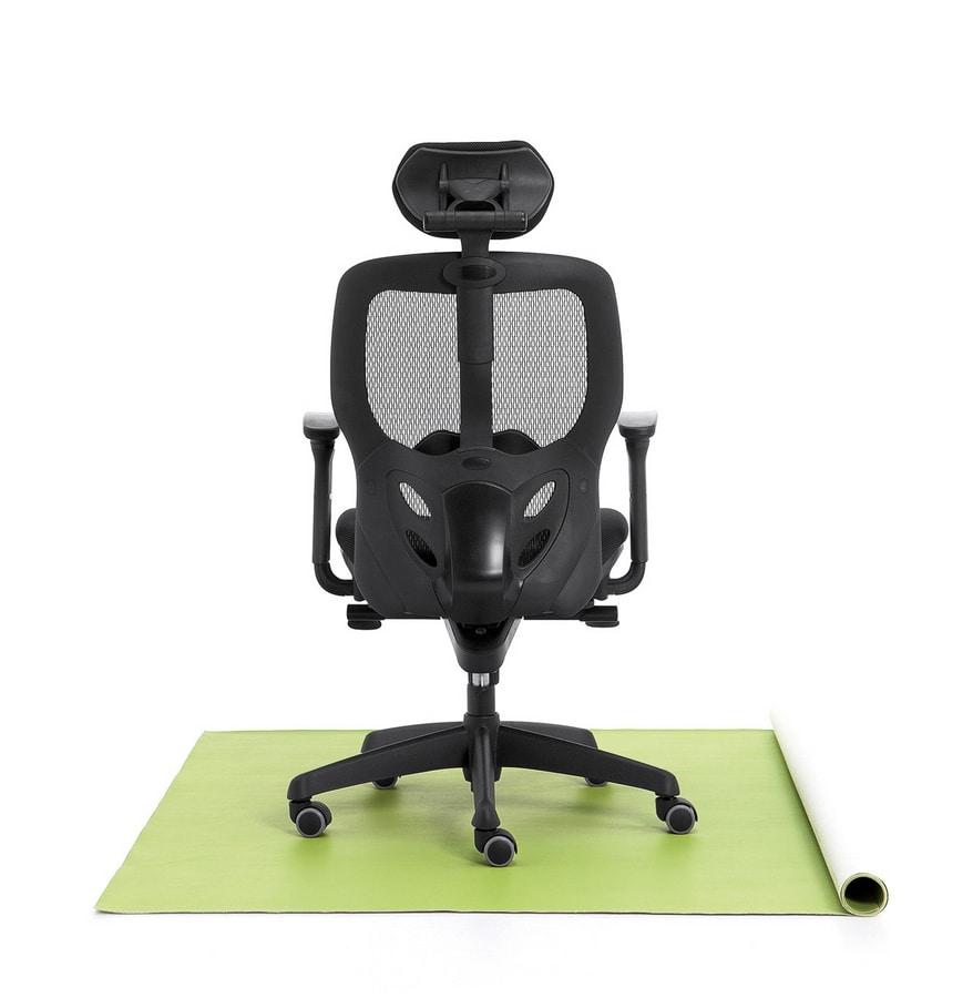 Tempo 01, Silla de oficina, asiento tapizado, malla para