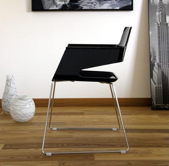 B32 SL, Silla moderna, con asiento y respaldo de nylon