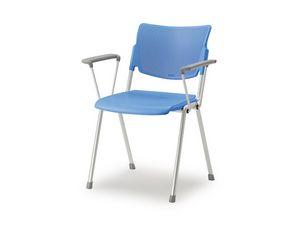 LaMia chair with 4 legs 6900WGA, Silla apilable con estructura de acero pintado