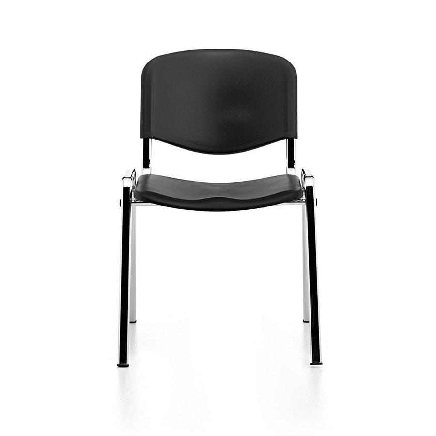 Leo Plastic, Silla de metal, asiento y respaldo de polipropileno