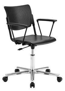LaMia, Silla de oficina con ruedas y base cromada