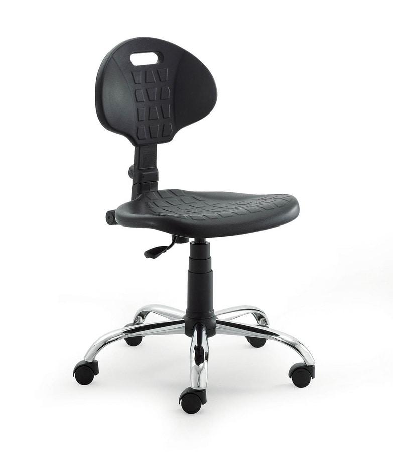 UF 426, Silla con asiento de poliuretano y de regreso