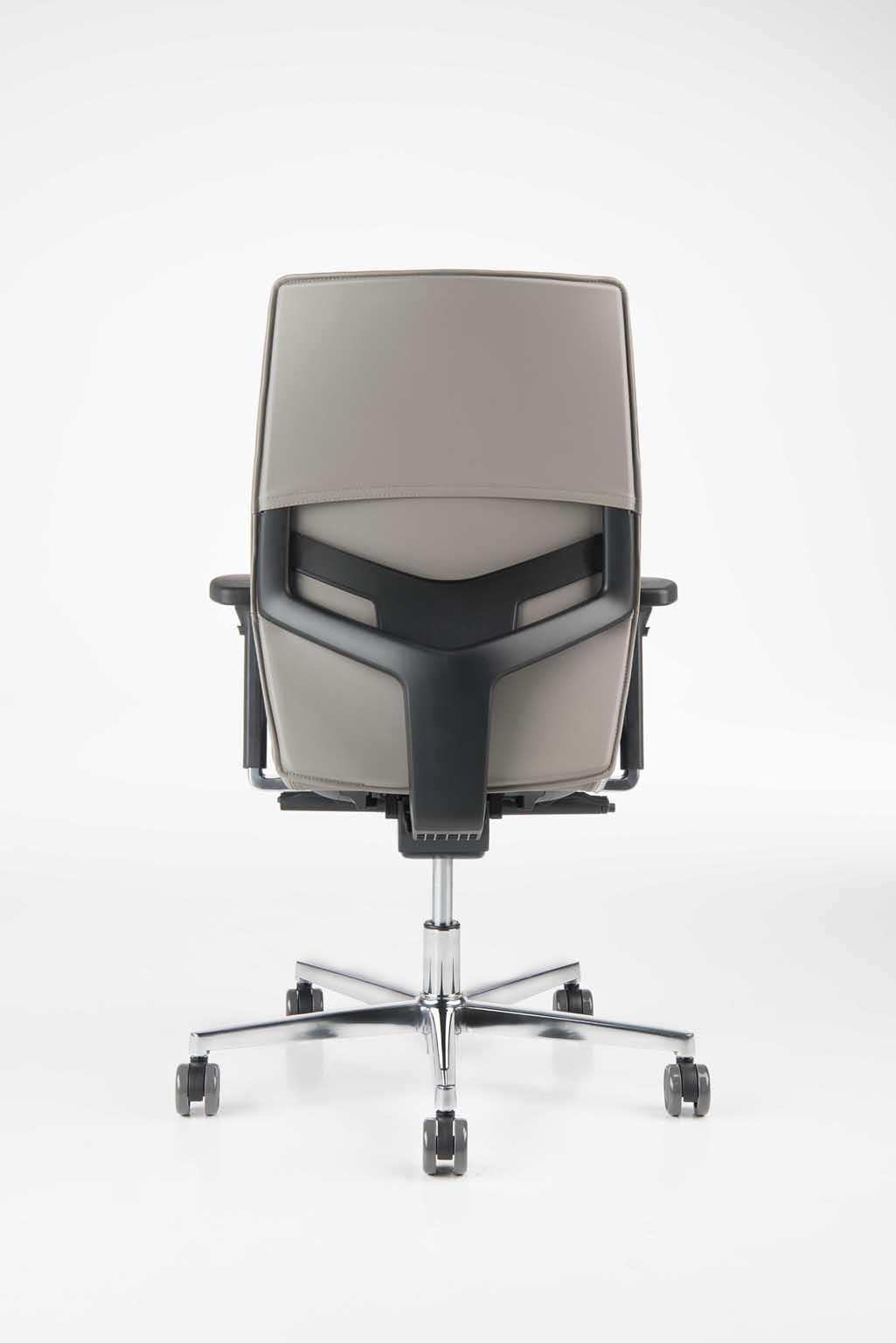 Silla operativa, malla, asiento acolchado, base cromada con ...