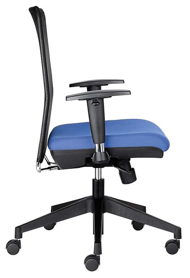 Silla de oficina de trabajo, con respaldo de malla negra | IDFdesign
