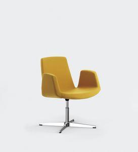 JOLLY, Silla de metal, asiento acolchado y respaldo, para salas de reuniones o conferencias