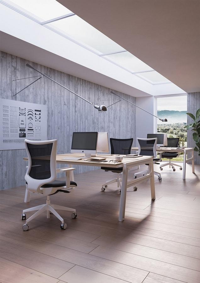 Kuper, Silla giratoria de oficina, varias dimensiones y acabados