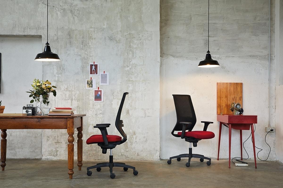 Logica 01, Silla de trabajo para oficinas refinadas