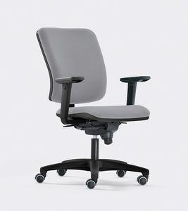 SMART, Silla operativa para la oficina, de diseño contemporáneo, asiento acolchado y respaldo