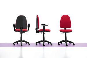 Viky 01, Silla de oficina simple, con brazos y ruedas