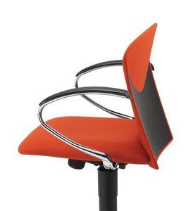 VULCAN 1310 Z, Silla de trabajo acolchado con reposabrazos cromados, para la oficina