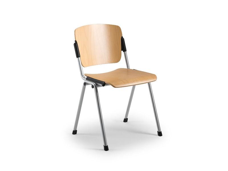 Cortina 6600LE, Silla con asiento y respaldo de madera de haya