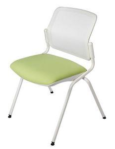 NESTING DELFINET 073, Silla de metal, asiento acolchado, para salas de reuniones