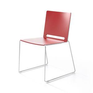 Multi, Metal y silla de plástico, apilables, para el Congreso