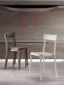 Art. 077 Corsocomo, Silla de diseño elegante, ligero y apilable