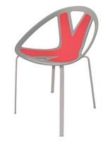 Extreme cod. 84, Silla con asiento en material plástico, por externa