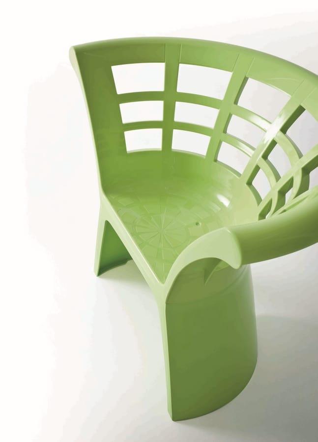 Flower cod. 66, Silla de polímero original para jardines y heladerías