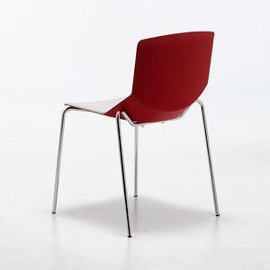 Formula tech 4L, Silla apilable, asiento y respaldo de poliuretano, adecuado para su uso en interiores y exteriores
