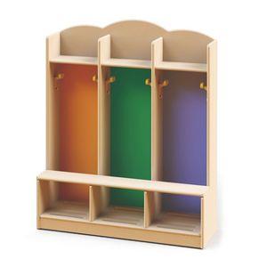Gabinetes de tocador, Vestuario para guarderías y jardines de infancia, hecho con pinturas no tóxicas, diferentes colores