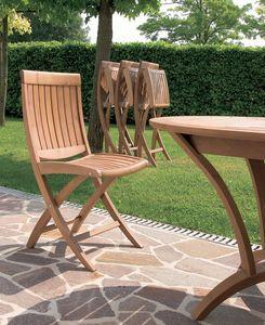 Harmony silla plegable, Silla plegable de madera, para uso en exteriores