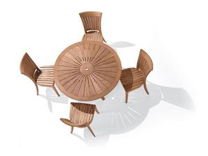 Harmony silla, Silla con respaldo con listones verticales, para el lado exterior