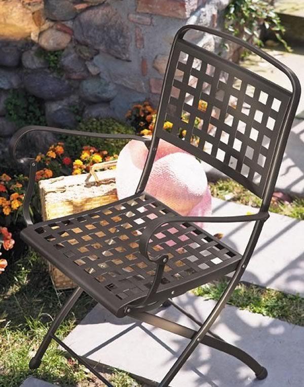 Silla plegable de acero para jardín | IDFdesign