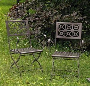 Isotta/P, Silla plegable de acero para jardín