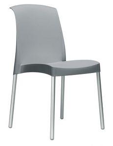 Jenny, Silla apilable sin apoyabrazos para muebles de exterior