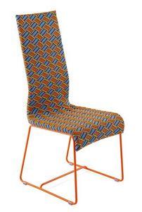 Kente silla, Silla con respaldo alto, tejido a mano, para uso en exteriores