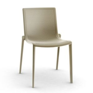 Kirama - S, Silla moderna, apilable, resistente, al aire libre, en plástico