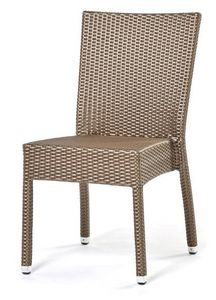 Lotus silla, Silla apilable, tejido a mano, base de aluminio