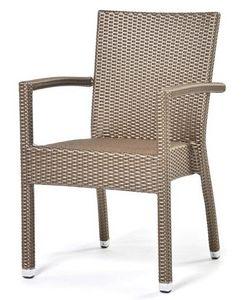 Lotus sillón, Silla con brazos, cubierto con plástico, para uso en exteriores