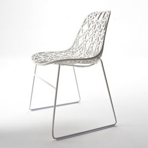 Nett R SB, Diseño Silla para exteriores en metal, concha de malla de plástico