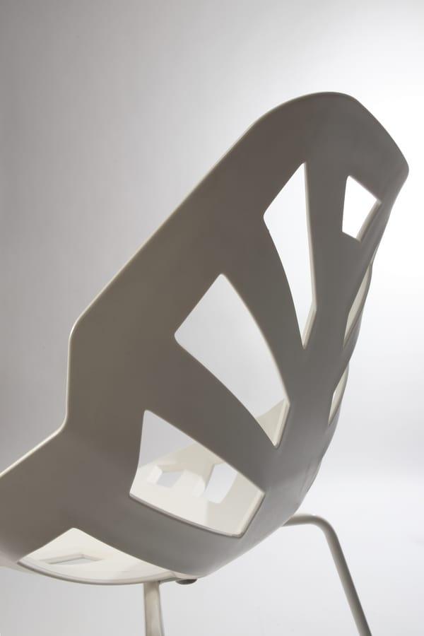 Ninja NA, Silla de polímero, base de metal pintado, para el aire libre