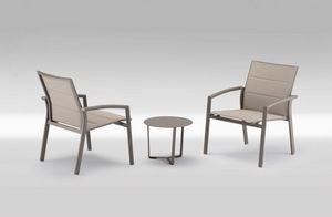 PL 740, Silla con brazos con asiento grande, asiento en Textilene