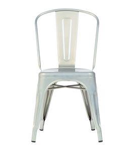 Reply chaise A, Silla apilable de chapa de acero galvanizado y pintado