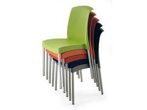 SE 2070, Silla de aluminio y plástico, muebles de jardín, para al aire libre